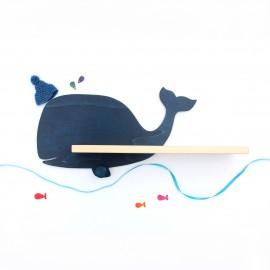 Etagère murale Baleine bleu Navy