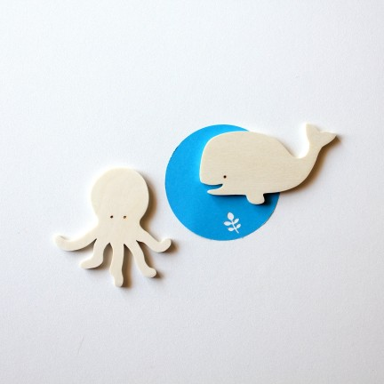 Magnets Baleine et poulpe