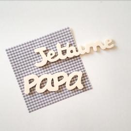 """Magnets """"Je t'aime Papa"""""""