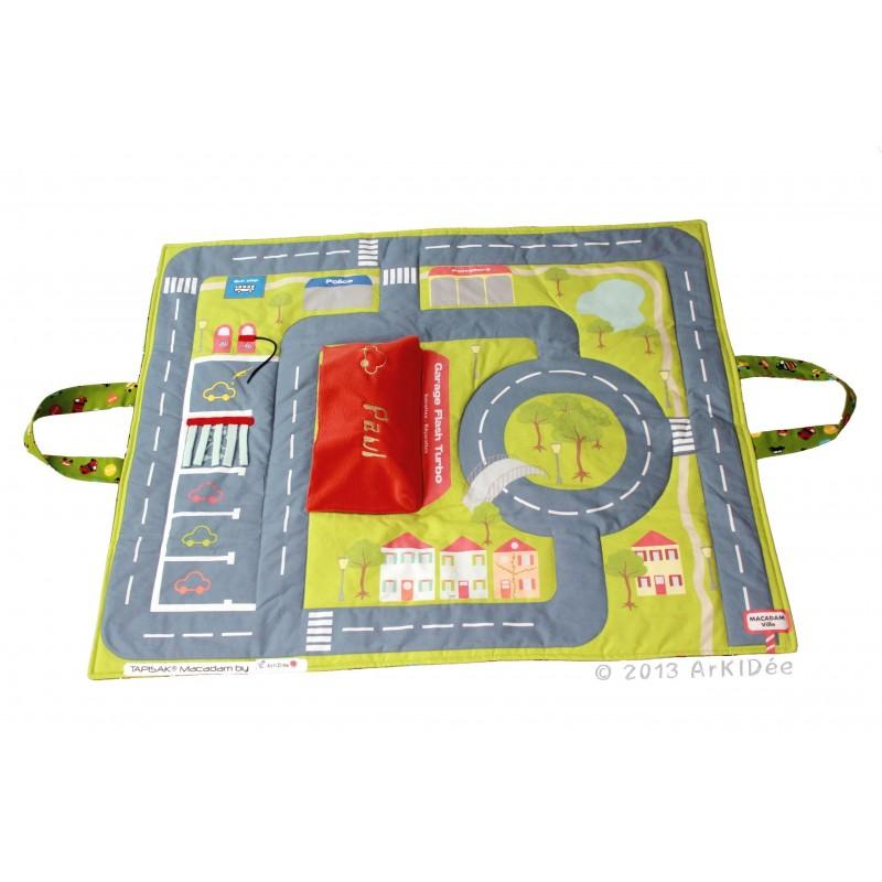 tapis de jeu circuit pliable et nomade tapisak macadam. Black Bedroom Furniture Sets. Home Design Ideas