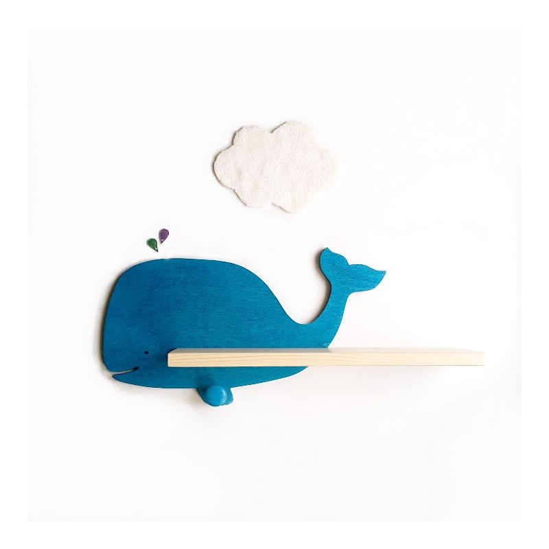 Etag re murale baleine bleue - Etagere murale bebe ...
