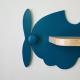 Etagère murale Avion bleu paon