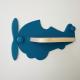 Etagère murale Avion bleu pétrole
