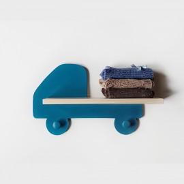 Etagère murale Camion Bleu paon