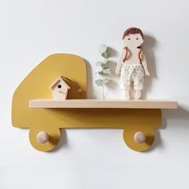 Etagère murale Camion Jaune moutarde