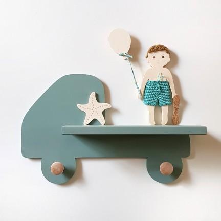 Mini-étagère Camion bleu-vert