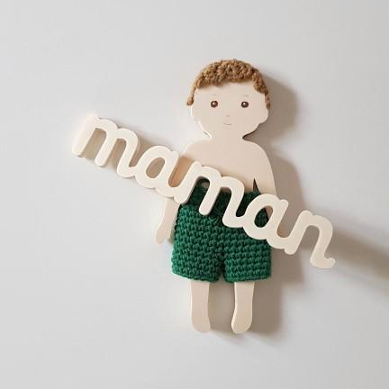 Mot Maman en bois