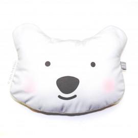 Coussin décoratif tête d'Ours Blanc